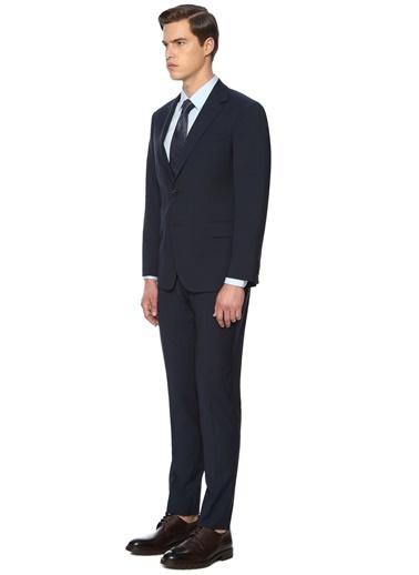 George Hogg George Hogg 7003810 Mikro Slim Fit Lacivert Takım Elbise Erkek Takım Elbise Lacivert